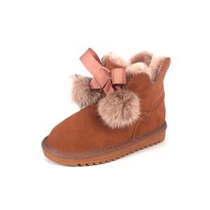 Australia High-quality Kids Boys Girls Children Baby Bowknot Warm Snow Boots Teenage Students Snow Winter Outdoor Children Boots