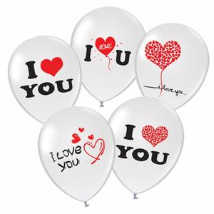 Прочный натуральный латекс воздушный шар круглый 12 дюймов воздушный шар не токсичен английское письмо Я люблю тебя воздушные шары на День Святого Валентина 14ay BB