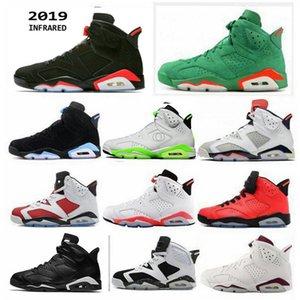 2019 Nuova versione Nike Nero Infrarosso 6 retro 6s 3M Riflettente Carmine JSP Argento UNC Scarpe da pallacanestro Uomo Scarpe da ginnastica Carmine Gatorade Tinker Sneakers