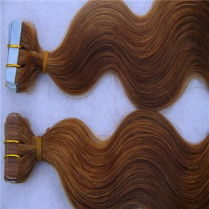 Light Brown Color Malaysian Hair Remy Human Hair Extensions 2g stand 40pcs pack Tape In Human Hair Skin Weft