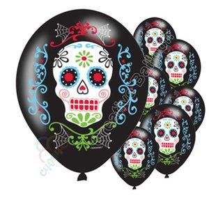 Padrão de venda quente Crânio de açúcar Balão de Halloween Crânio Balões de látex Decoração Crianças Fantasma Festa de aniversário Novo estilo 0 55cyH1
