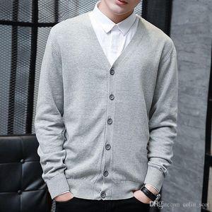 Autumn and winter men's sweater cardigan Korean leisure thin cotton long sleeved sweater