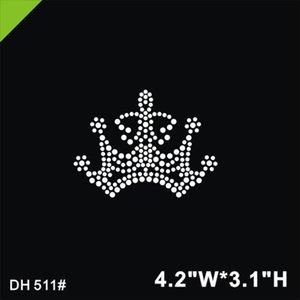 Frete grátis Linda coroa adesivo ferro em transferência de ferro em projetos de transferência de strass hot fix rhinestone motivo projetos DIY DH511 #
