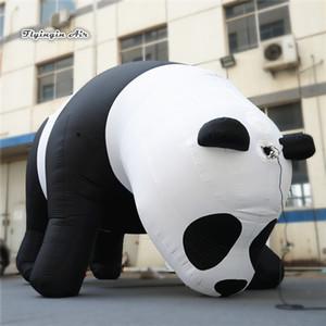 Escalada gigante Altura personalizado anúncio inflável animal Panda Modelo 6m Panda Para zoológico e parque de diversões Decoração