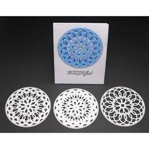 Metal İstifleme Daire Kesme Ölür Scrapbooking için 3D Şablonlar Kabartma El Sanatları Ölür 2018 Yeni Şablon Kağıt Albümü Yapma
