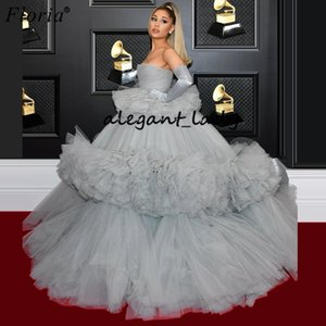 Ariana Grande Celebrity evening Dresses Middle East Sexy Red Carpet Runaway Dresses Fashion Photography prom gown Vestidos