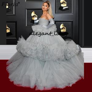 Ariana Grande Celebrity vestidos de noche de Oriente Medio Sexy Red Carpet fugitivo vestidos de moda Fotografía de baile vestido Vestidos
