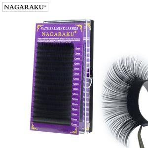 Nagaraku 가짜 밍크 속눈썹 확장 개별 속눈썹 가짜 속눈썹 J B C D 부드럽고 자연 눈 속눈썹 높은 품질