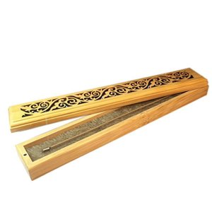 Bamboo Incense Burner Hand Carving Hollow Stick Incense Plate Holder Joss Stick Box Lying Censer For Home Decor Living Room Other Home Decor