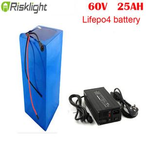60v 25Ah bateria Li ione LiFePO4 pacco 60v 25Ah litio per elettrica ebike motorino citycoco con il caricatore 5A