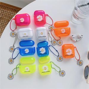 Per airpods caso airpods Pro 2 1 caso di colore della margherita fluorescente per la calotta di protezione di caso di Apple Airpods auricolare Bluetooth per Air Pod