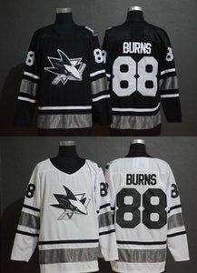 2019 nouveau maillot de hockey noir All-Star Brent Burns 88 San Jose Sharks S-3XL Livraison gratuite