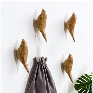Criativo parede Hooks Decoração do pássaro Resina de Madeira Hooks Quarto porta atrás de Animais 3D Brasão único gancho gancho da parede