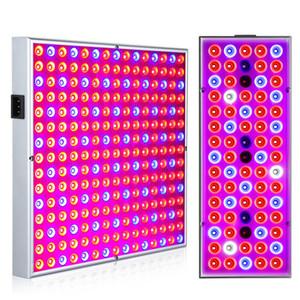Lampada Phyto Lampada Grow Indoor Per pianta 380-780nm LED Full Spectrum crescente luce 85-265V 75leds 144LEDs 25W 45W UV IR Pannello di lampade