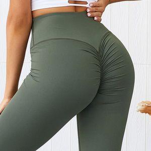 Yoga donne pantaloni a vita alta Sport Leggings Scrunch Butt ghette senza giunte fitness allenamento di ginnastica traspirante Booty Sport Slim Tights Y200106