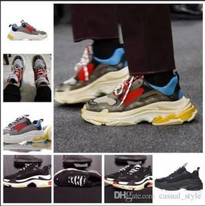 Nouveauté - BL Triple S 17FW pour homme femme Chaussures Casual Vintage Kanye West Old Grandpa Entraîneur chaussures de mode bottes de plein air