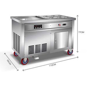 Nuovo arrivo entrambi i lati pan istante rullo fritta di ghiaccio cream macchina elettrica fritta di ghiaccio Thai macchina per fare vaschetta del ghiaccio