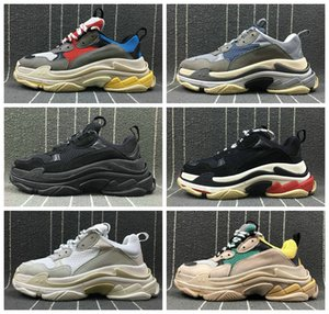 women 2018 Fashion Paris 17FW Sneaker Triple-S Triple S Casual Luxury Dad Shoes per Uomo Donna Beige Sports Tennis Designer Running Shoe 36-45