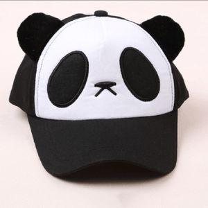 2019 Children Adult Panda Pattern Cartoon Cotton Baseball Cap Breathable Adjustable Velcro Sports Outdoor Sun Visor Mesh Hats