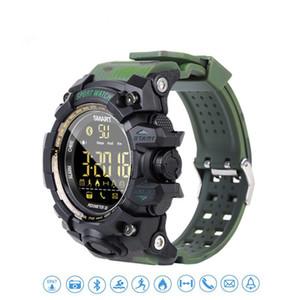 Sport EX16S Montre Smart Watch Camouflage Bande Bracelet Étanche Longue Veille Temps Lumineux Étapes Réveil Chronomètre