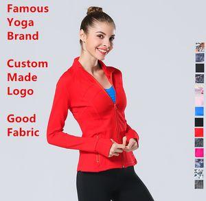 2019 50 Farben l Frühlings-Frauen Outwear Mantel u Designer Jacke Dame Sport Yoga-Kleidung Lycra-Faser der gleiche Art Jogging l Jacke u