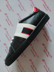 Neue Art und Weise Luxus-Designer-Ass billig gehobene rote lässige schwarze Biene weißer Schlange Turnschuhe für Männer und Frauen Schuhe