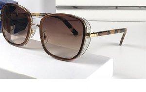 Luxus Elvas Designer-Sonnenbrillen Shiny Chip Platte Charme Rahmen Top-Qualität Anti-UV-Objektiv Spiegel Beliebte Glasse Removable kommt mit Fall