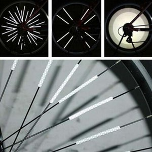 12Pcs Bicycle Light Wheel Rim Spoke Clip Tube Safety Warning Light Cycling Strip Reflective Reflector Mountain Bike