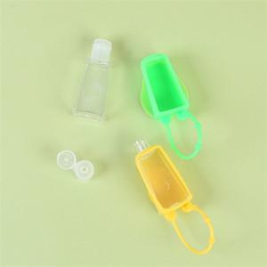 Bottiglie di plastica copre in silicone vuote riutilizzabili Hanging Tipo istantaneo Hand Sanitizer contenitore trasparente liquido Storgae Vasi 30ml 0 95hs E19