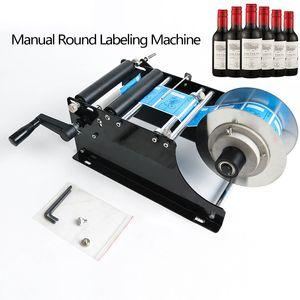 Freies Verschiffen durch DHL! MT-30 Handbuch Round-Etikettiermaschine mit Griff Flasche Etikettierer Etikettiermaschine Glas Metall-Flasche