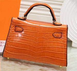 Bolsos de diseño para mujer Clásico H Bolso de hombro decorativo Bolsa de cena de marca Nuevo patrón de cocodrilo para mujer Bolso cuadrado pequeño