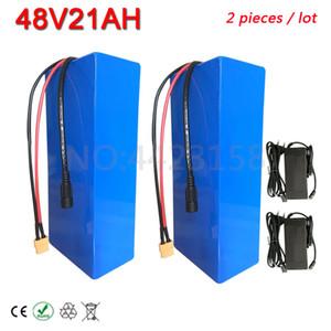 2pcs / lot High Power 2000W 48V bici elettrica della batteria 20AH Ebike 48 Volt litio con 50A BMS Charge