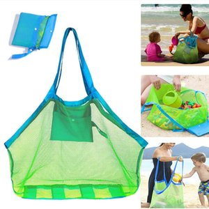 Mesh Beach Bag Foldable Sand Beach Bags Totes Toys Towels Sand Away Organizer Storage Bags Grocery Picnic Tote