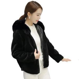 المرأة الفراء فو vetement 2021 الشتاء معطف الاصطناعي معطف فروي سترة فام زائد الحجم وهمية أبلى Z10