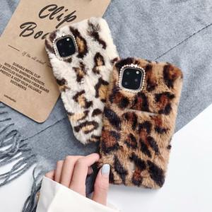 Casos de telefone Designer Coelho luxo peles depilados para iPhone 11 Pro X XS Max max7 8 TPU macio clássico da moda borda da tampa de proteção do telefone móvel