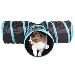 Pliable 3 trous Tunnel Pet Jouets pour les chats Les chats de compagnie Intérieur Extérieur formation Jouet Kitten Tunnel Lapin drôle de chat Maison Jouets