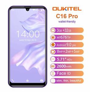 OUKITEL C16 Pro 5.71 '' Android 9.0 19: Telefono 5V / 1A 4G mobile 9 MT6761P 3GB 32GB schermo dello smartphone di impronte digitali Face ID Waterdrop