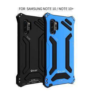 R-Just armadura de metal del caso para Samsung Galaxy Note 10plus cubierta a prueba de golpes para la nota 10 el envío libre