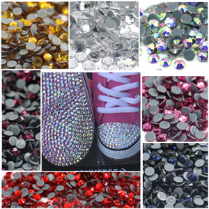 2A Normal Faceted With Hot Fix Austria Back Glass Rhinestone For Garment Accessories DIY