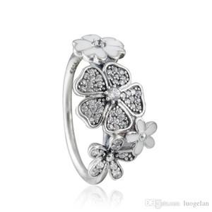 Совместим с Pandora ювелирные изделия кольцо серебряный мерцающий букет ясно CZ кольца 100% стерлингового серебра 925 ювелирные изделия Оптовая DIY для женщин