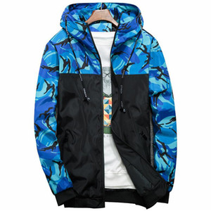 Windbreaker Jacket Men Camouflage Mit Kapuze Bomberjacken Mens Brand Slim Fit Winddicht Hip Hop Streetwear 6XL Camo Mäntel Kleidung