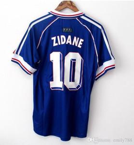 10 ZIDANE 1998 copo RETRO VINTAGE 2006 shirt 2010 HENRY MAILLOT DE PÉ Tailândia qualidade camisas de futebol uniformes Football Jerseys camisa Men