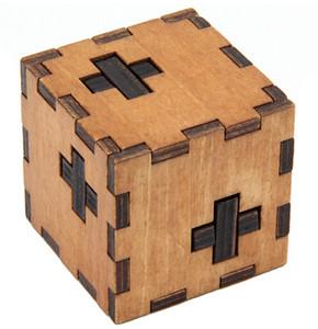 Caja de madera Puzzle Rompecabezas Rompecabezas Juego de juguete Iq Educativo Rompecabezas de madera para niños y adultos