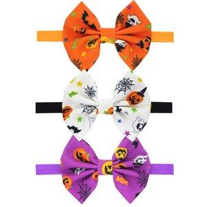 Sombreros de Halloween elegante arco de las muchachas del pelo de Todos los Santos Calabaza cráneo Hairbands Accesorios pelo de los niños nuevos 5 estilos