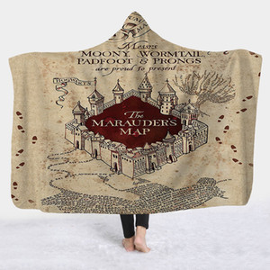 Harri Potter Marca Series com capuz Blanket para adulto crianças Gothic Sherpa Coral velo Wearable cama Sofá Manto Lance Outing Blanket Tide quente