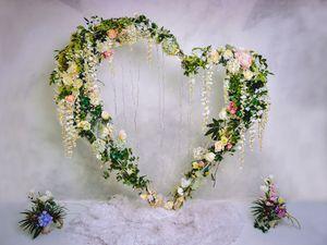 Intérieur mariage Décoration Vinyle Photographie Fleurs Backdrops Love Heart Photo Booth Fonds pour Props Studio romantique