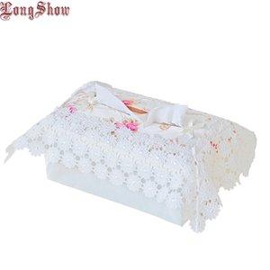 Livraison Gratuite Creative Maison Hôtel Table Décoratif Brodé Dentelle Tissue Box Case Cover C19042101