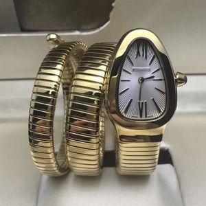 Cuarzo de las mujeres regalos del reloj de señoras de 18 quilates caja de oro pulsera de acero inoxidable de línea blanca de calidad superior