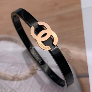 18K Rose Gold-Silber-Stulpe-Armband-Armband-Titanstahl Frauen Männer Bangle klassische Hochzeit Armbänder Fine Jewelry