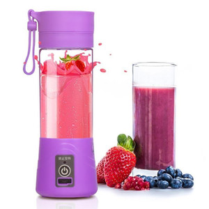 380ml 4 blades Blender USB Rechargeable Mixer Portable Mini Juicer Juice Machine Smoothie Maker Household Small Juice Extractor Bottle